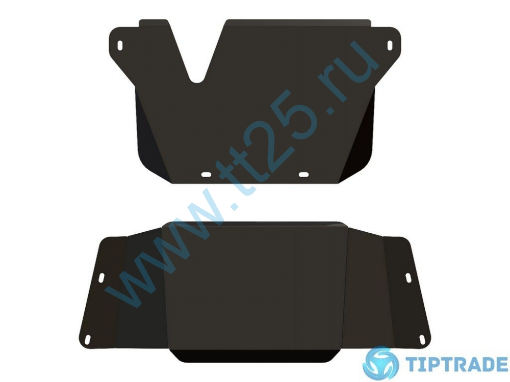 Защита КПП и РК, TOYOTA, Land Cruiser 105, 2002 -, 4,2; 4,5; 4,7, сталь 2 5мм